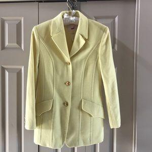 Mondi wool, angora & cashmere yellow jacket